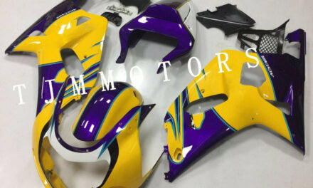 For GSXR600/750 2001-2003 ABS Injection Mold Bodywork Fairing Kit ALSTARE Yellow