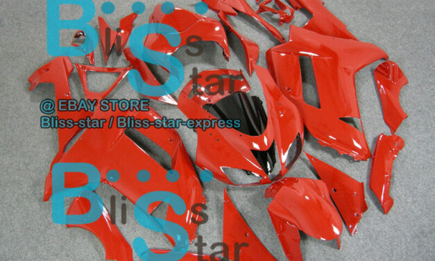 All Red INJECTION Fairing Bodywork Plastic Fit Kawasaki ZX-6R 07-08  035 A4