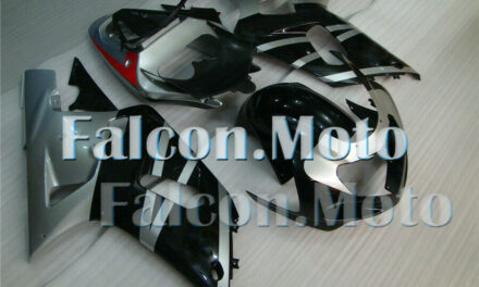 Silver Black Injection Mold Fairing Plastics Set Fit for 01-03 GSX-R 600 750 aBO