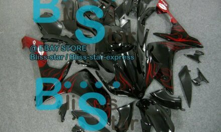 Black INJECTION Fairing with Full Tank Fit Yamaha YZF-R1 2007-2008 019 QQ