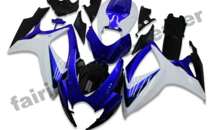 FTC Injection Blue White Fairings Fit for Suzuki 2006 2007 GSXR 600 750 a005