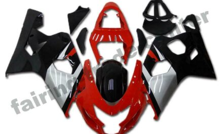 FTC Injection Kit Red Black Fairing Fit for Suzuki 2004 2005 GSXR 600 750 a008