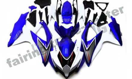 FTC Injection Blue White Fairing Kit Fit for Suzuki 2008-2010 GSXR 600 750 a007