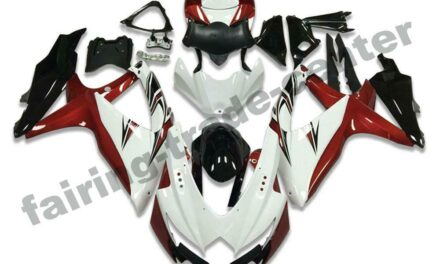 FTC Injection Mold White Red Fairing Fit for Suzuki 2008-2010 GSXR 600 750 a011