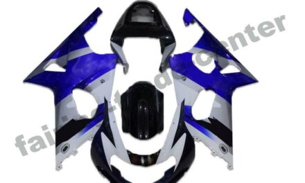 FTC Injection Mold White Blue Fairing Fit for Suzuki 2000-2002 GSXR 1000 a003