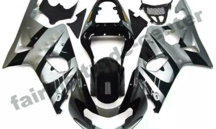 FTC Injection Mold Silver Black Fairing Fit for Suzuki 2000-2002 GSXR 1000 a001