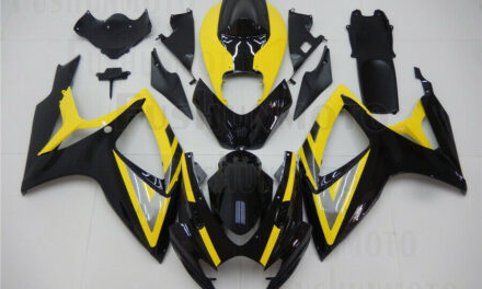 Yellow Black Fairing Fit for Suzuki GSX-R 600 750 2006-2007 Injection Molded a33