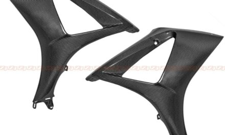 2007 2008 GSX-R 1000 Front Side Radiator Cover Fairing Cowling Carbon Fiber