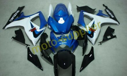 AFTERMARKET ABS PLASTIC FAIRINGS FOR GSXR600/750 06-07 BLUE AND WHITE COL SUZUKI