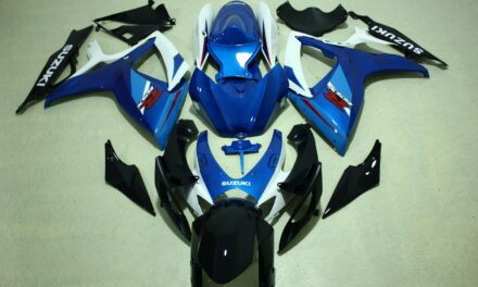 AFTERMARKET ABS PLASTIC FAIRINGS FOR GSXR600/750 06-07 BLUE AND WHITE SUZUKI
