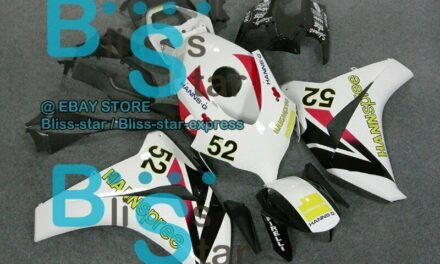 Decals+White INJECTION Fairing Fit HONDA CBR1000RR 2009 2010 2008-2011 07 A1