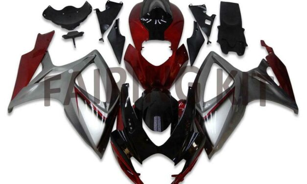 US Stock Injection Silver ABS Fairing Fit for Suzuki 2006 2007 GSXR 600 750 a006