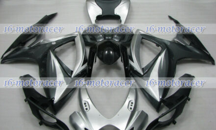 Fairing Silver Gray Black Injection Fit for 2006-2007 GSXR 600/750 06 K6 ABS #58