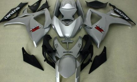 AFTERMARKET ABS PLASTIC FAIRINGS FOR GSXR600/750 06-07 SILVER COLORS INJECTION