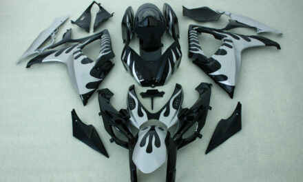 FAIRINGS SILVER BLACK COLOR ABS INJECTION  FIT SUZUKI GSXR600/750 2006 2007
