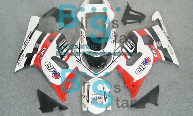 White decals GSX-R750 Fairing For SUZUKI GSXR600 GSXR750 2001-2003 115 B5