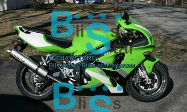 Green Black Aftermarket Fairing Bodywork Kit Kawasaki ZX-7R 1996-2003 8 D2