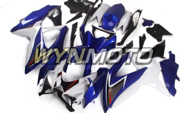 White Blue Fairings for Suzuki GSXR600 2008 2009 2010 Bodywork GSXR750 08 09 10