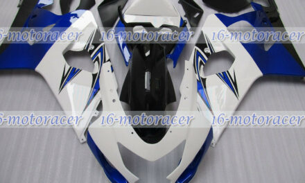 Fairing Fit for 2004 2005 GSXR 600 750 Injection White Blue Black Body Set q#151