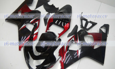 Fairing Black Pearl Red Fit for 2004 2005 GSXR 600 750 ABS Injection Mold K4 #20