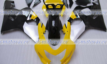 Fairing Yellow Black Injection Plastic Fit for GSXR600 GSXR750 K4 2004 2005 q#08