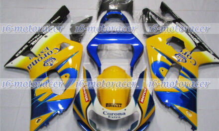 Fairing Fit for 2001-2003 GSXR 600 750 K1 Injection White Yellow Blue Black #120