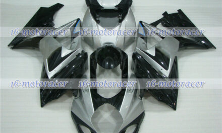 Fairing New Silver Black Injection Fit for 2007-2008 GSX-R 1000 K7 ABS Mold a#31