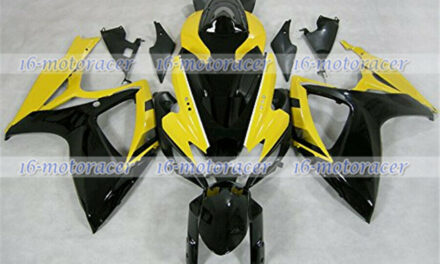 Fairing Fit for Suzuki GSXR 600 750 2006-2007 ABS Injection Black Yellow a#106