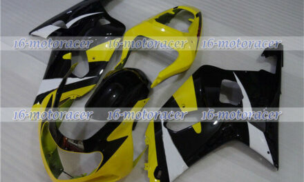 Fairing Black Yellow White Fit for 01-03 GSXR 600/750 K1 Injection Plastic n#140