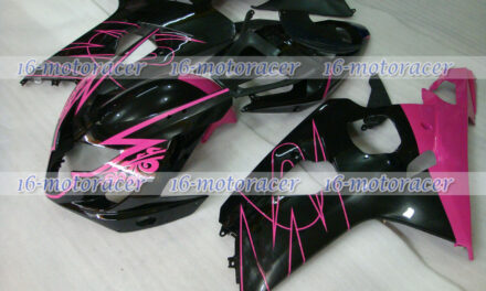Fairing Pink Black ABS Injection Fit for GSXR 600 750 K4 2004-2005 Mold New q#44