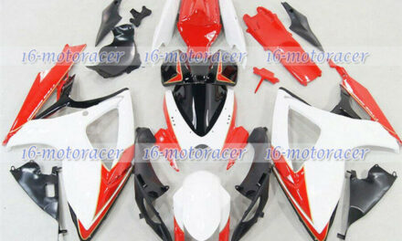 Fairing Complete Injection White Red Fit for GSX-R 600 750 2006-2007 K6 ABS a#87