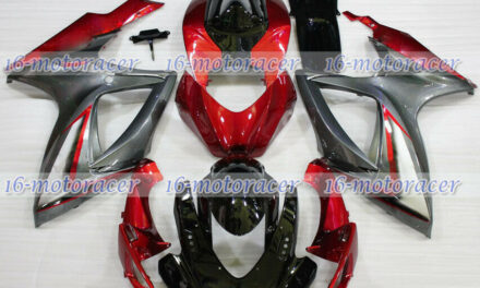 Fairing Fit for 2006 2007 GSXR 600 750 K6 Black Red Grey ABS Injection Mold #127