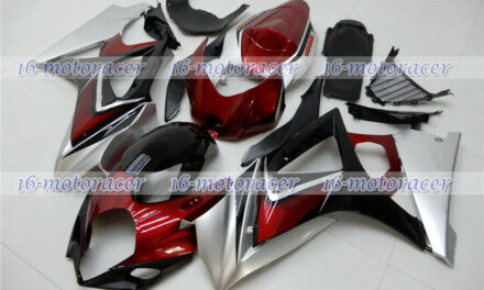 Fairing Pearl Red Black Silver Injection Fit for 2007-2008 GSX-R 1000 K7 ABS #01