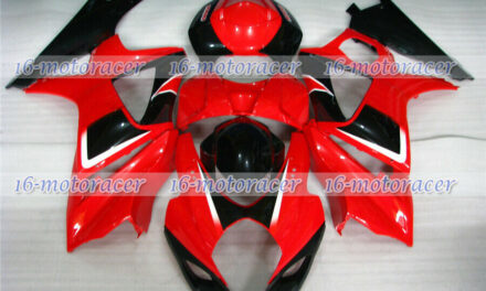 Fairing Set Fit for Suzuki 2007-2008 GSX-R 1000 Injection Plastic Red Black a#34