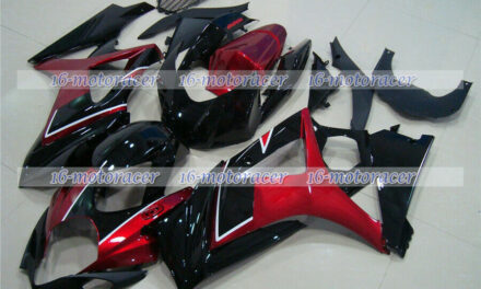 Fairing Fit for 2007-2008 GSX-R 1000 K7 Pearl red Black Injection Mold ABS a#50