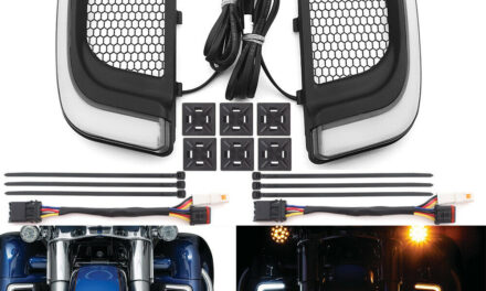 LED Fairing Lower Black Grill W/Turn Signal Light For Harley Electra Glide 14-up
