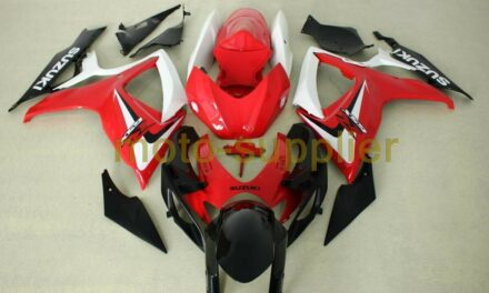 AFTERMARKET ABS PLASTIC FAIRINGS FOR GSXR600/750 06-07 RED WHITE AND BLACK COLOR