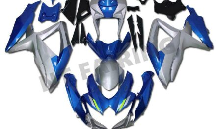 Fit for Suzuki 2008-2010 GSXR 600 750 Injection Blue Silver Fairing Kit a093