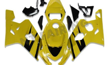 Injection Yellow Fairing Fit for Suzuki 2004-2005 GSXR 600 750 a013
