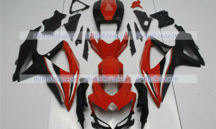 Fairing Fit for 2008-2010 GSXR600 GSXR750 K8 Red Black ABS Injection Molded q#78
