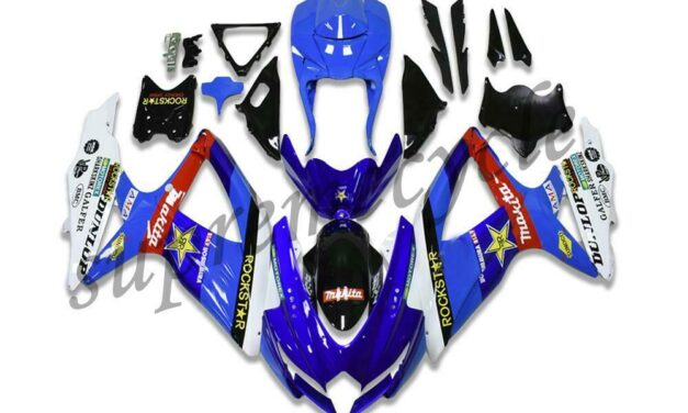SC Injection Molding Blue Fairings Fit for SUZUKI 2008-2010 GSXR 600 750 a073