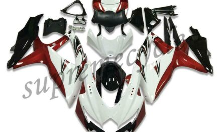 SC Injection Mold White Red Fairing Fit for Suzuki 2008-2010 GSXR 600 750 a011