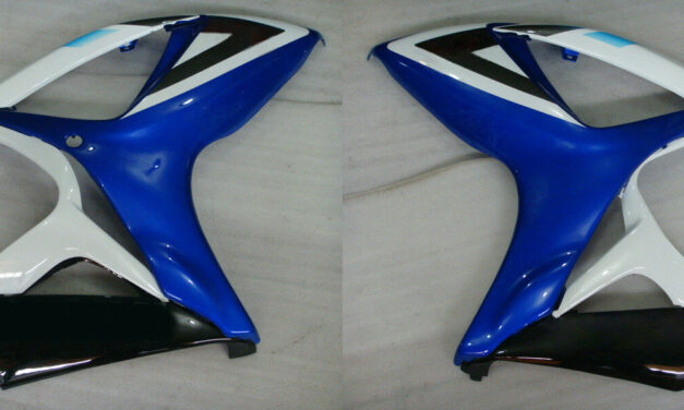 6pieces Right and left Fairings For Suzuki 2006 2007 GSXR 600 750 K6 Blue White