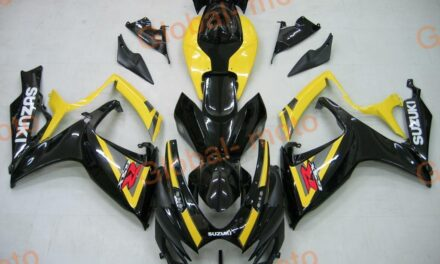 ABS FAIRINGS KITS  FOR GSXR600/750 2006 2007 BLACK YELLOW AND SLIVER