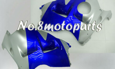 Fit for 1997-2007 1998 Suzuki GSXR 1300 Silver Blue Left Right Side Fairings a02