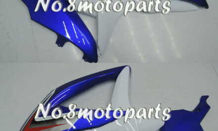 Fit for GSXR 600 750 K8 08-2010 Left Right Side Fairings Blue White Injection 19
