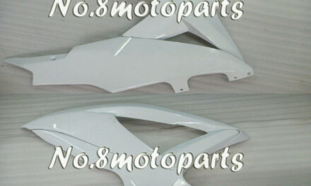Fit for GSXR 600 750 K8 2008 2009 2010 Left Right Side Fairings Glossy White a23