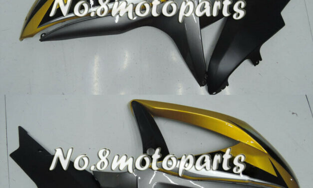 Fit for GSX-R 600 750 K8 2008-2010 Gold grey black Left Right Side Fairings a18