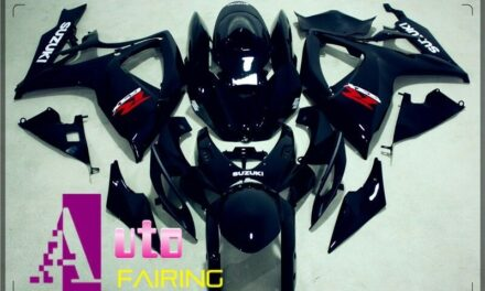 Injection Fairing Fit GSXR600/750 2006 2007 06 07 GlOSS BLACK ABS Aftermarket