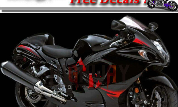 Injection GlossBlack ABS Fairings For Suzuki GSXR1300 Hayabusa 2008-2014 Kit Red